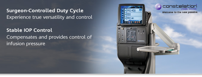 CONSTELLATION® Vision System: Cycle and IOP Control