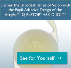 Learn about the AcrySof® IQ ReSTOR® +3.0 D IOL.